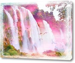 Картина Сказочный фиолетовый водопад