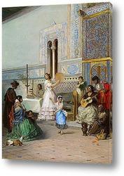 Жанровая сцена в Алькасаре в Севилье