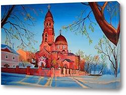 Картина Вид на церковь Озерянской чудотворной иконы Божией Матери