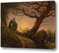 Двое мужчин рассматривают луну