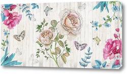 Картина Ретро цветы