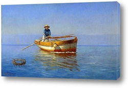 Картина Рыбак на лодке