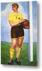 Картина Футболистка блондинка