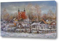 Дубровица зимой.
