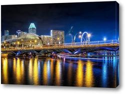Картина Ночной Сингапур