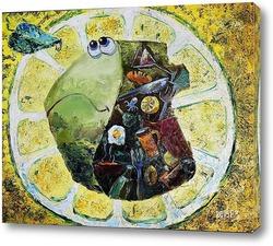 Картина Рыба под лимоном