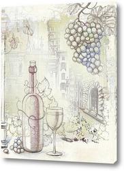 Картина Французское вино