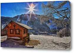 Зимнее утро в Альпах