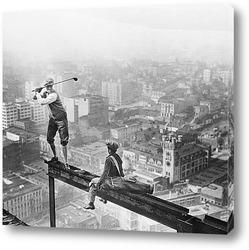 Картина Игрок в гольф на балке
