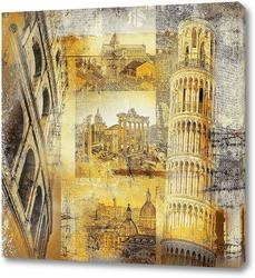 Картина Достопримечательности Италии