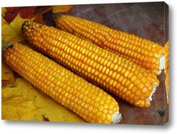 Картина золотая  кукуруза