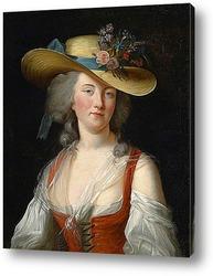 Картина художника 19 века, портрет женщины