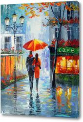 Картина Романтическая прогулка по городу