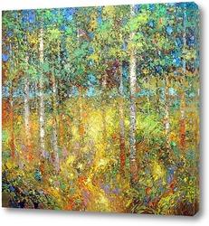 Картина Берёзовый лес