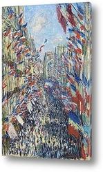 Улица Монтогрей.Париж, фестиваль 30 июня 1878