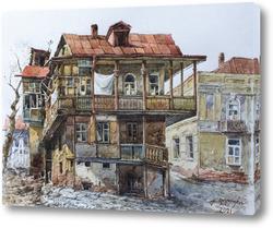 Картина Старый дом в Тбилиси
