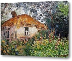 Картина Деревенская хата.