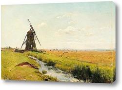 Картина Мельница на равнине