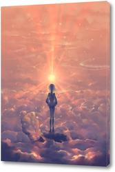 Картина Прогулка  в облаках