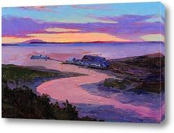 Картина Раннее утро. Аляска. Анкоридж консервный завод