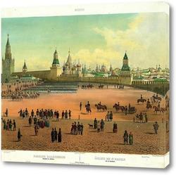 Картина Василий Блаженный виден с Кремля 1845  –  1850