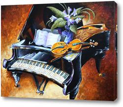 Картина Рояль и скрипка
