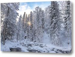 Картина Зимний пейзаж на Алтае
