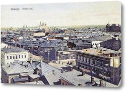 Картина Вид Самары с Вознесенского собора 1906  –  1914