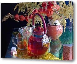 """Натюрморт """"Чайник и чашка с чаем"""""""
