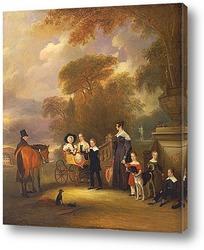 Картина Преподобный и миссис Генри Палмер с их шести детьми младшего воз