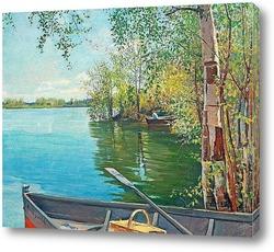 Картина Рыбалка на озере