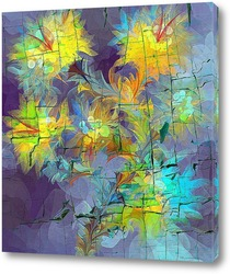 Картина абстрактные цветы