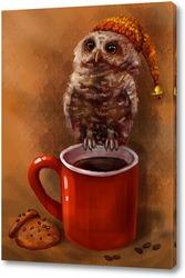 Совенок и чай с печенюшками