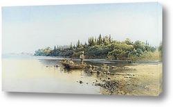 Картина Рыболовное судно, Корфу