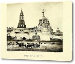 Владимирские ворота Китай-города,1884 год