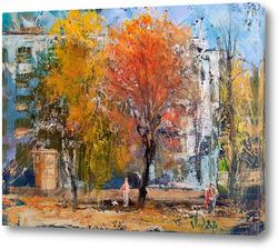 Картина Осенний двор