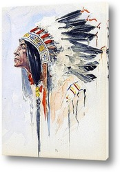 Картина Индейский вожак