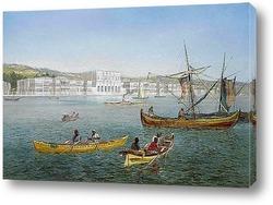 Картина Босфор и дворец Долмабахче, Стамбул