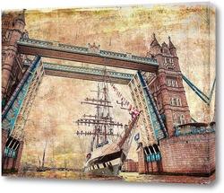 Картина Мост и корабль