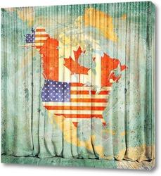 Картина Северная Америка