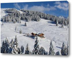 Картина Зимние горы