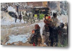 Картина Карроббио под снегом, Милан