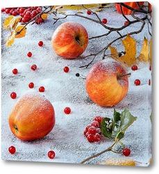 Картина Яблоки на снегу.
