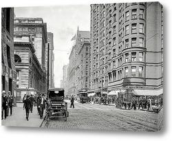 Картина Дирборн-стрит, Чикаго, 1907