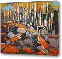 Березовая роща, осень, зима 1915-16