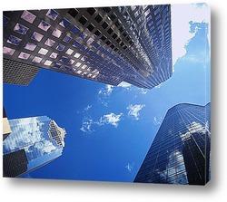 Картина Взгляд снизу на центр Хьюстона.