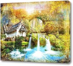 Картина Освежающий водопад