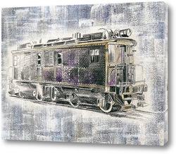 Американский старинный поезд Ингерсол