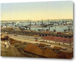 Картина Порт 1895  –  1900 ,  Украина,  Одесская область,  Одесса