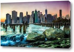 Картина New york манхэттен